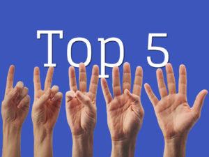 top 5 selling